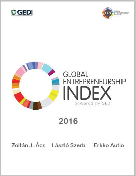 2016 Global Entrepreneurship Index - $10 fee