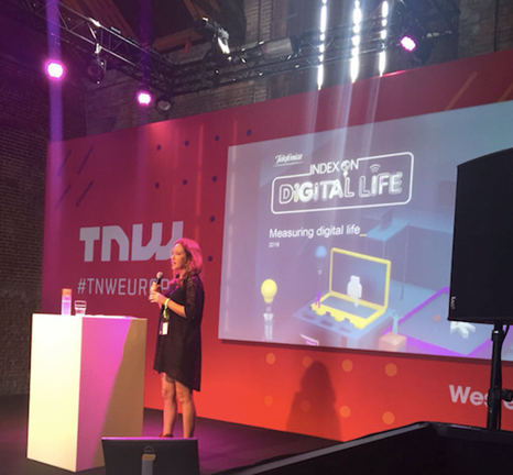 Telefonica's Helen Parker presents the Index findings and key messages at the 11th annual TNW Conference in Amsterdam.